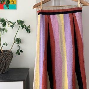 Laia Striped Midi Skirt (Size S)